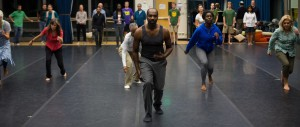 Ron Brown (center) and dance workshop students